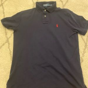 Polo shirt , dark blue with red horse